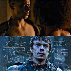 Grey Worm (Jacob Anderson) and Theon Greyjoy (Alfie Owen-Allen) - Game of Thrones