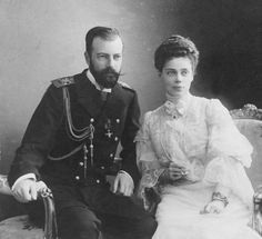 Grand Duchess Xenia and her husband Alexander in the early years of their marriage.The Tsar's eldest surviving sibling at the time of the revolution was, Grand Duchess Xenia. She had been married to her first cousin once removed, Grand Duke Alexander Mikhailovich of Russia (Sandro), in 1894 During the couples honeymoon her father, Tsar Alexander III fell ill and died making her brother Nicholas the new Tsar. Between 1895 and 1907 Xenia gave birth to her and Sandro's seven children.