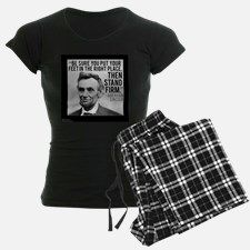 """#Lincoln """"Stand Firm"""" Quote #Pajamas by @QuoteGifts @cafepress @pinterest #gift #nightwear #abelincoln #history #presidents"""