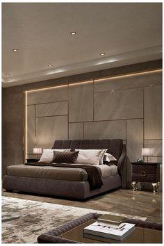 Modern Luxury Bedroom, Luxury Bedroom Design, Bedroom Closet Design, Bedroom Furniture Design, Luxurious Bedrooms, Contemporary Bedroom, Black Bedroom Design, Bed Headboard Design, Modern Headboard