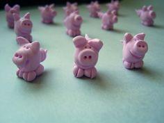 Meine Silvesterschweinderl 2011 aus Fimo (Polymeric Clay) Glücksschwein Silvesterschwein