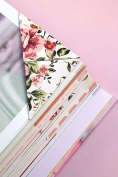 DIY: origami corner bookmarks