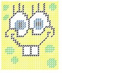 Spongebob plastic canvas pattern