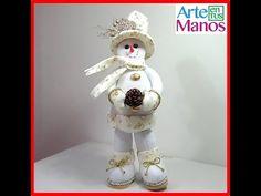 Muñeco de Nieve con Sombrero de Copa Paso a Paso - YouTube