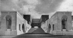 Foro Mussolini, Roma - L'Accademia e l'entrata dello Stadio