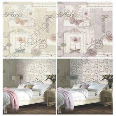 £7.99 GBP - Arthouse Felicity Paris Wallpaper - Soft Pink Grey & Natural - Feature Wall #ebay #Home & Garden