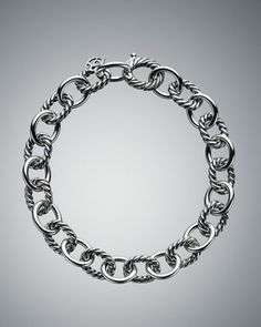 Medium Oval Link Chain Bracelet by David Yurman at Neiman Marcus.