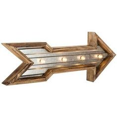 Wood & Galvanized Metal Arrow Marquee Sign