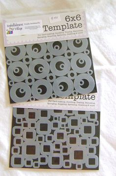 """The Crafter's Workshop Stencils Mini Retro Bubbles and Mini Retro Squares    - www.PageAdditions.com 12"""" x 12"""" is $6.00 & 6"""" x 6"""" is $4.00"""