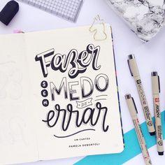 Brush Lettering, Lettering Design, Chalkboard Lettering, Study Inspiration, Motivational Quotes, Doodles, Banner, Bullet Journal, Scrapbook