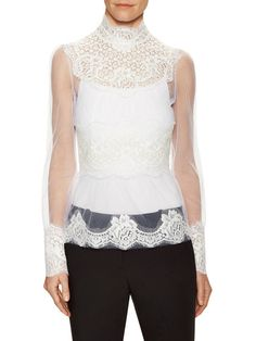 Lace Embroidered Blouse by Dolce