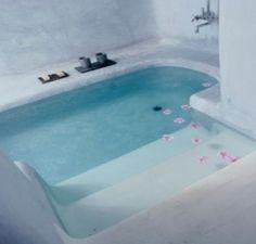 Sunken bathtub. Make sure it fits two and has jets and this is perfect for our…