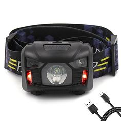 Headlamp with Red Strobe,Rechargeable and Waterproof Headlight with Adjustable Headband,Perfect for Camping,Fishing,Riding,Hiking,Dog Walking and Emergency in Hurricane Season, USB Cable Included. For product & price info go to:  https://all4hiking.com/products/headlamp-with-red-stroberechargeable-and-waterproof-headlight-with-adjustable-headbandperfect-for-campingfishingridinghikingdog-walking-and-emergency-in-hurricane-season-usb-cable-included/