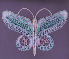Karen Trettel: Milanese Butterfly from a class with Louise Colgan.