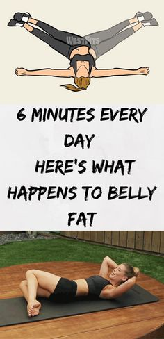 6 Minutes Every Day – Here's What Happens To Belly Fat - Fitness Täglich 6 Minuten - Was passiert mit Bauchfett? Fitness Logo, Fitness Diet, Health Fitness, Fitness Style, Fitness Design, Fitness Plan, Muscle Fitness, Fitness Motivation, Fitness Memes