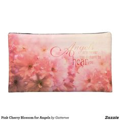 Keep your lipstick & eyeliner safe with a new Pink cosmetic bags from Zazzle. Unrivaled designs transform these makeup bags. Cosmetic & Toiletry Bags, Cherry Blossom, Eyeliner, Angels, Lipstick, Cosmetics, Makeup, Pink, Accessories