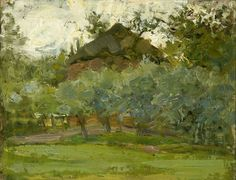 Piet Mondriaan (Dutch, 1872-1944) Rick behind a row of trees (Hooimijt achter een rij bomen), N/Dvia huariqueje