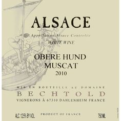 This is the first off-dry Muscat I have ever liked. It's the Godilocks of Muscats- not too dry, not too sweet, not too alcoholic, and not off balance. At $22 this shows you what Alsace is capable of!
