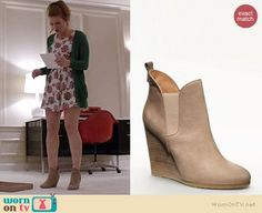 Lydia's wedge booties on Teen Wolf.  Outfit Details: http://wornontv.net/35864/ #TeenWolf
