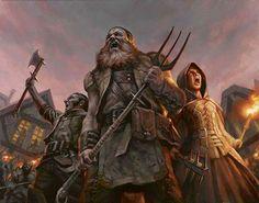 m & f Vigilante Villagers pitchforks