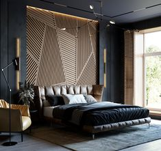 Ann Alpatova on Behance Modern Luxury Bedroom, Master Bedroom Interior, Room Design Bedroom, Luxury Bedroom Design, Modern Master Bedroom, Luxury Rooms, Bedroom Furniture Design, Home Room Design, Luxurious Bedrooms