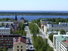 A general view of Kemi town centre with Gulf of Bothnia in the background Lapland Finland, Belle Villa, Bucket List Destinations, Montenegro, Countryside, Dolores Park, Beautiful Pictures, Places To Visit, Mansions