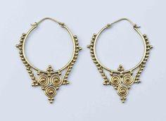 SALE Tribal Brass Earrings Gypsy Earrings Bohemian by YemayaSoul