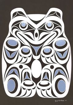 Coast Salish Spirit Bear Art Card- Joe Wilson