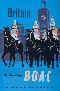 Britain, Fly There by B.O.A.C, ca 1950s
