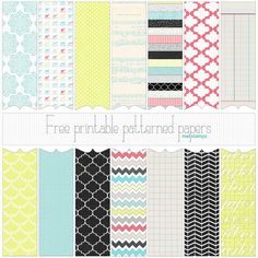 "free 12.5"" square All Year/Christmas Patterned paper set (free papers & overlay) 12.5"" square 350dpi PNGs"