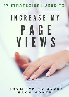 Lena Gott from www.whatmommydoes.com talks about all the ways that she boosted her page views and all the things she did that didn't work.  A must read!  #affiliate #blogging #pageviews