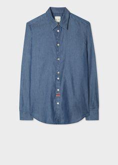 Chambray, Denim Button Up, Button Up Shirts, Mens Designer Shirts, Long Shorts, Slim Man, Paul Smith, Long Sleeve, Cotton