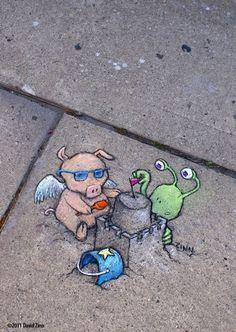 david+zinn+sidewalk+art | David Zinn's website : link