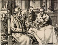 In Check  by Stanley Anderson, RE, ARA (1884 - 1966)...etching