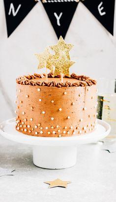 Chocolate champagne layer cake