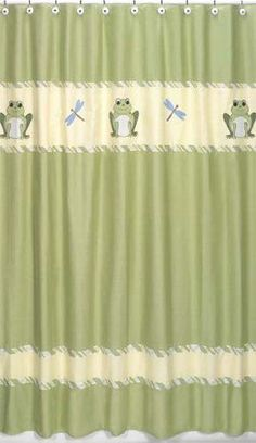Leap Frog Kids Bathroom Fabric Bath Shower Curtain by Sweet Jojo Designs >>> Find out more about the great product at the image link.