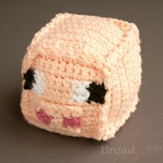 Minecraft Pig toys make great stacking blocks. Crochet pattern courtesy of Bread and With It.