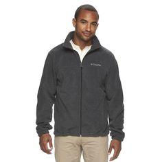 Men's Columbia Flattop Ridge Fleece Jacket, Size: Medium, Med Grey