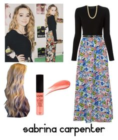 """""""Sabrina carpenter"""" by isacab ❤ liked on Polyvore featuring Madam Rage, Proenza Schouler, Pieces and Hourglass Cosmetics"""