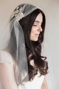 NEW-Bridal veil Juliet cap veil-beaded lace by SmithaMenonbridal Juliet Cap Veil, Fingertip Veil, Lace Veils, Wedding Veils, Hair Wedding, Wedding Outfits, Wedding Stuff, Dream Wedding, Colorful Hair