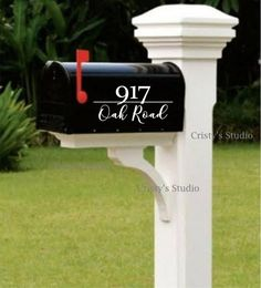 Mailbox Decal Made to order. To personalize please enter the information for yours in the Note to Seller section of checkout. Be sure to enter your colors. Measures approximately x Mailbox door decal measures