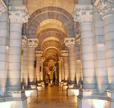 Madrid's crypt. We Like the symmetry and up lights. Not a deathly feel at all!!