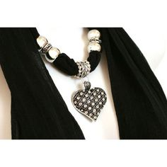 I own these. I love them!!  3-Pack: Heart Charm Necklace Scarves at 73% Savings off Retail!