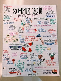 Simple Bullet Journal Ideas to Simplify your Daily Activity - Summer Bucket List Summer Bucket List For Teens, Summer Fun List, Teen Bucket List, Summer Goals, Senior Bucket List, Teenage Bucket Lists, Fun Bucket List Ideas, Bucket List For Couples, College Bucket List