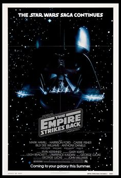 """This """"Star Wars / The Empire Strikes Back printable poster is high resolution and can be printed as big as size x 841 mm / 300 dpi / RGB color) with flawless gallery-like quality. Billy Dee Williams, Mark Hamill, Original Movie Posters, The Empire Strikes Back, Fantasy Movies, Star Wars Poster, Star Citizen, Vintage Movies, Cover"""