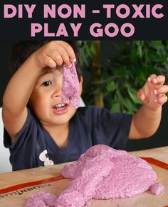 Make play goo with basil seeds and water.