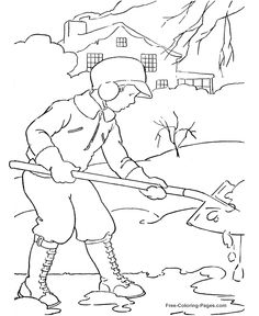 180 Best Kid S Winter Color Fun Images Coloring Pages Vintage