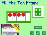 Here's a SMARTBoard activity where students practice filling the ten frame with red counters while practicing the strategy of anchoring to 5  and 10.