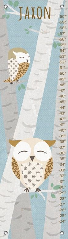 """Birchwood Owl - Blue"" by Jen Christopher 