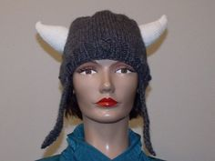 Hand Knit Viking Hat by MadMadameHatter on Etsy